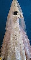 Платье свадебное с саукеле в национальном стиле