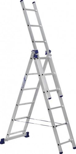 Трехсекционная универсальная алюминиевая лестница 3*11