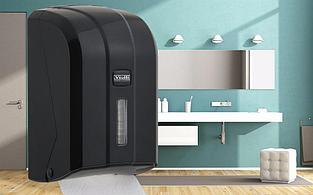 Диспенсер для листовой туалетной бумаги Z сложения Vialli К6В чёрного цвета