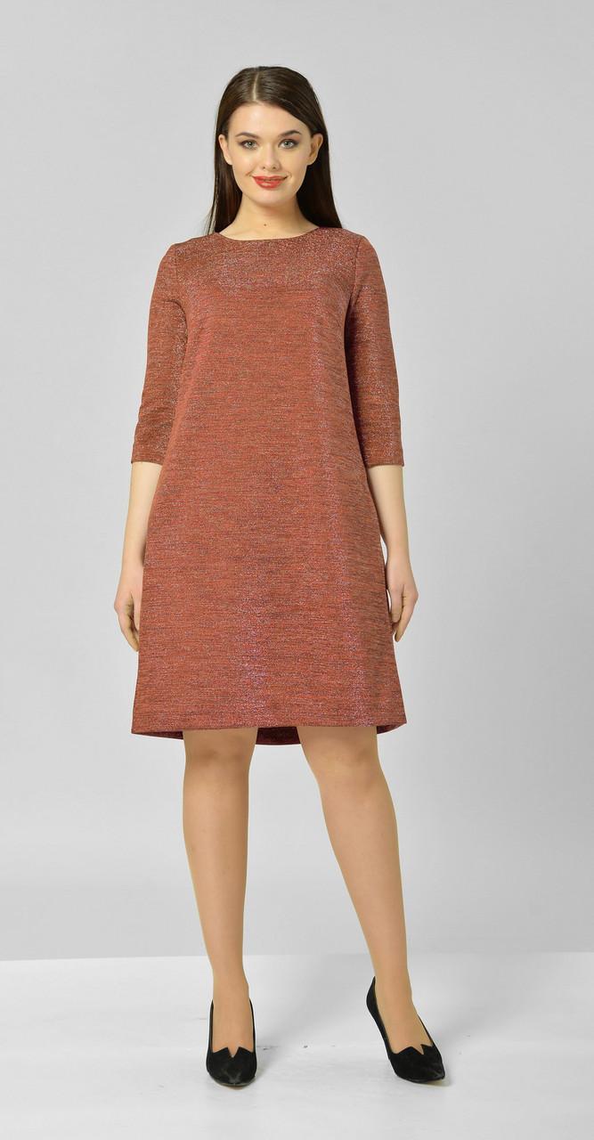 Платье Elga-582/2, терракот, 46