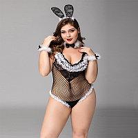 "Костюм ""Bunny"" (боди, ушки, браслеты, чокер) 2XL-3XL"
