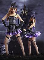 Обворожительное платье на Хеллоуин + перчатки, чулки, шляпа