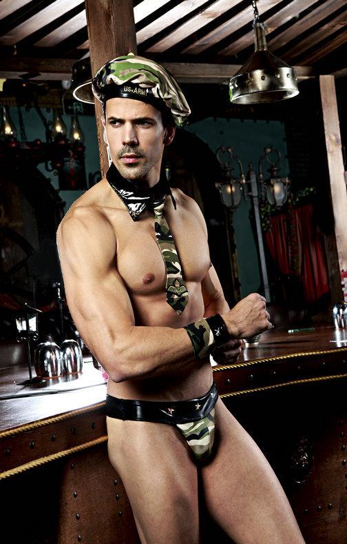 """Костюм """"Lustful soldier"""" ( берет, галстук с воротником, браслеты, трусы)"""