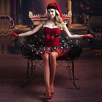 Рождественское платье + чулки, перчатки, шапка, фото 1