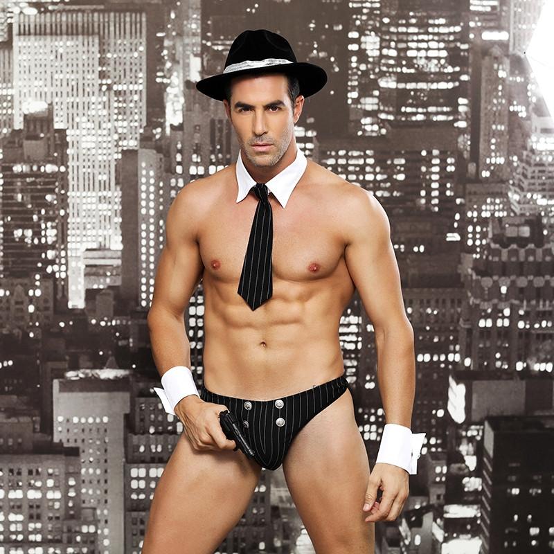 """Ролевой костюм """"Waiter"""" (галстук, шляпа, трусы, пистолет, манжеты)"""