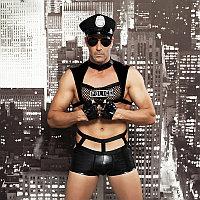 """Ролевой костюм """"Policeman"""" (шорты, наручники, топ, очки, перчатки, кепка), фото 1"""