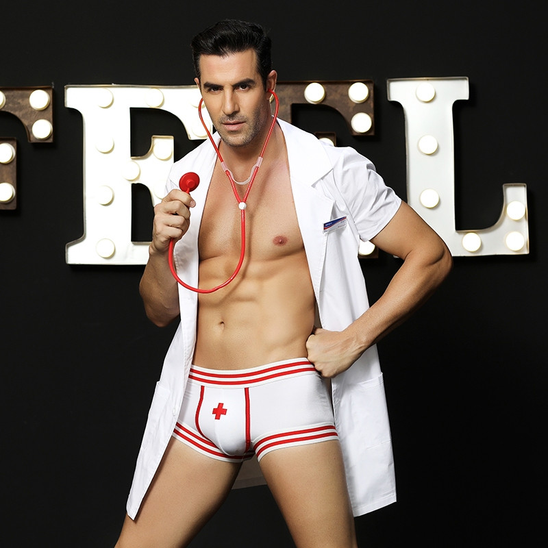 """Эротический мужской костюм """"M.Doctor"""" (рубашка, стетоскоп, бэйдж, трусы)"""