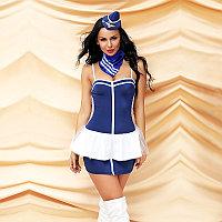 "Костюм ""Sweet stewardess""  (шляпка, шарф, юбка, блузка, трусики), фото 1"