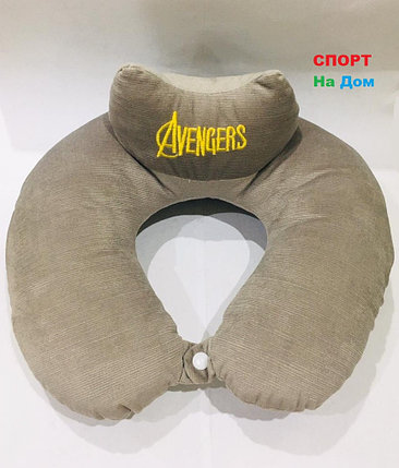 Подушка для шеи Мстители Avengers (цвет серый), фото 2