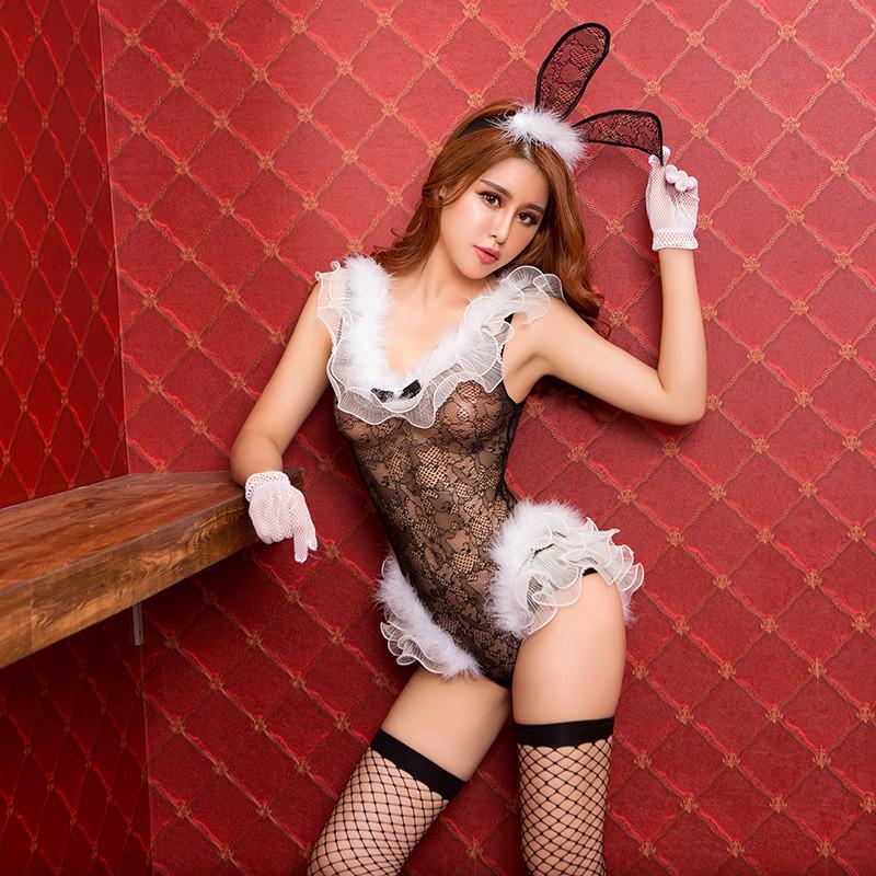 """Костюм """"Sexy bunny girl"""" (боди, ушки, чулки, перчатки)"""