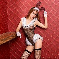 """Костюм """"Sexy bunny girl"""" (боди, ушки, чулки, перчатки), фото 1"""