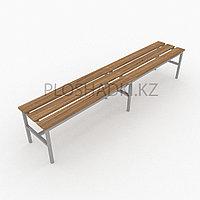 Скамейка деревянная двойная, длинная