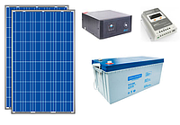 ПОД КЛЮЧ: Автономная солнечная станция 1 кВт*ч в сутки (0.2 кВт в час) 12 В