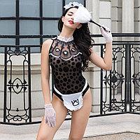 """Костюм """" Sexy maid"""" ( боди, фартук, перчатки, ободок, щётка)"""