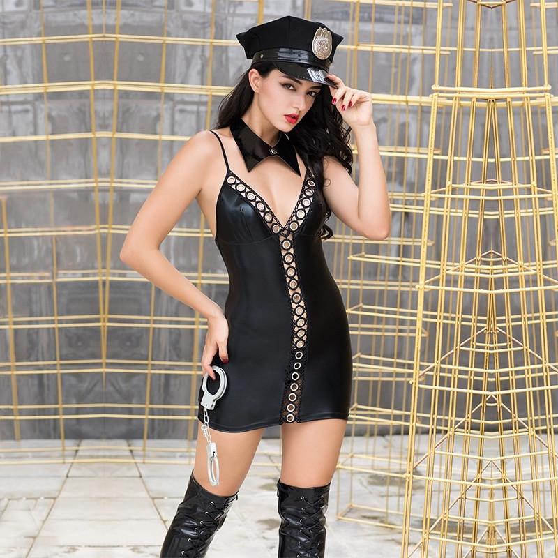 "Костюм ""Lady Police"" (кепка, воротник, платье, наручники)"