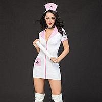 "Костюм ""Sexy nurse"" ( платье на молнии, чокер, ободок), фото 1"
