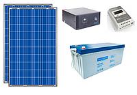 ПОД КЛЮЧ: Автономная солнечная станция 2.4кВт*ч в сутки (0.5 кВт в час) 12 В
