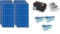 ПОД КЛЮЧ: Автономная солнечная электростанция 6,8 кВт*ч в сутки (1.5 кВт в час) 24 В