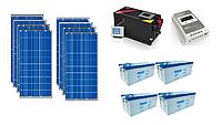 ПОД КЛЮЧ: Автономная солнечная станция 9 кВт*ч в сутки (2 кВт в час) 24 В