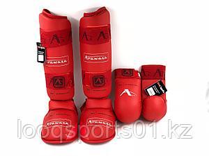 Защита голени и стопы каратэ карате Arawaza (футы, накладки, перчатки щитки для единоборств)