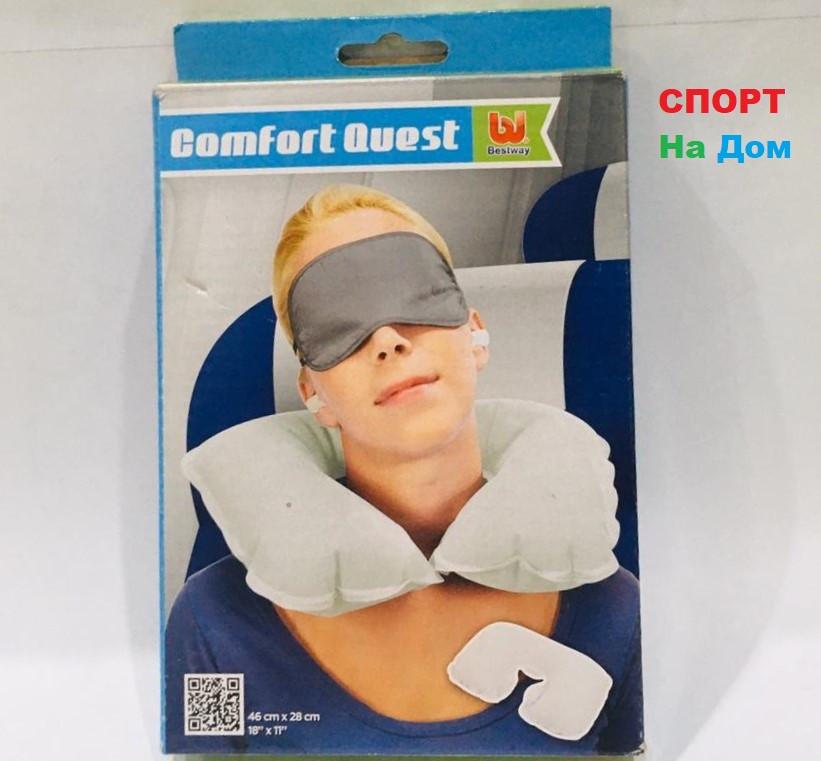 Дорожная надувная подушка для шеи BestWay 46 см (цвет белый)