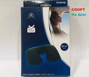 Дорожная надувная подушка для шеи BestWay 37 см (цвет зеленый)