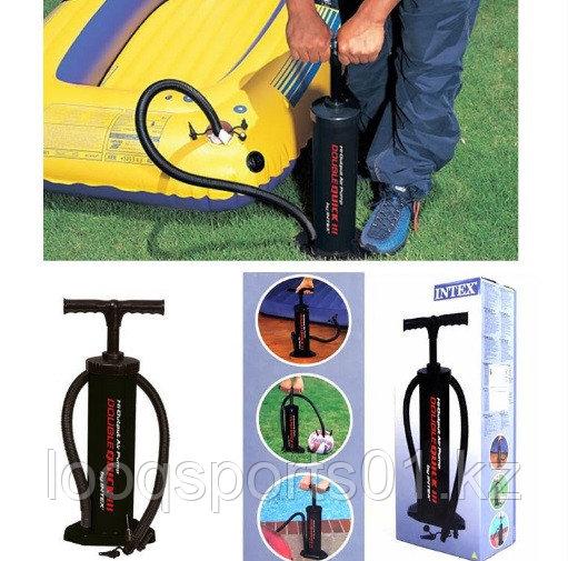 Ручной насос для мячей, матраса, велосипеда с иглой (Intex) 48см