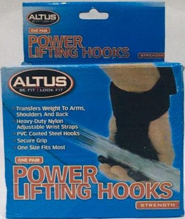 Крюки на руки для турника и становой тяги штанги Altus, фото 2