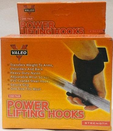 Крюки на руки для турника и становой тяги штанги Valeo, фото 2