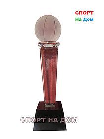 """Кубок стекло с 3D голограммой """"Лучшему баскетболисту"""" 2 место"""
