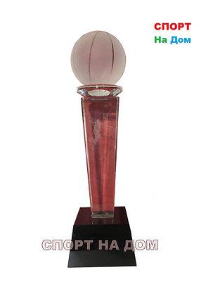 """Кубок стекло с 3D голограммой """"Лучшему баскетболисту"""" 3 место, фото 2"""