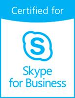Гарнитуры Jabra сертифицированы для использования со Skype For Business