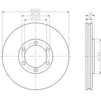 Тормозные диски Nissan Pathfinder (R50, передние , Ashika, D300)