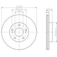 Тормозные диски  Nissan Maxima  A32 (95-00, передние, Ashika)