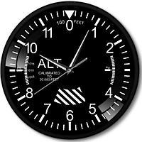 Часы настенные авиационный прибор высотомер металл