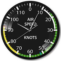 Часы настенные авиационный прибор указатель скорости металл