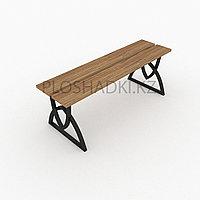 Скамейка деревянная ножки геометрия
