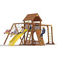 """Детская площадка """"Прага с рукоходом, горкой, качелями, лестницей, крышей деревянной, фото 1"""
