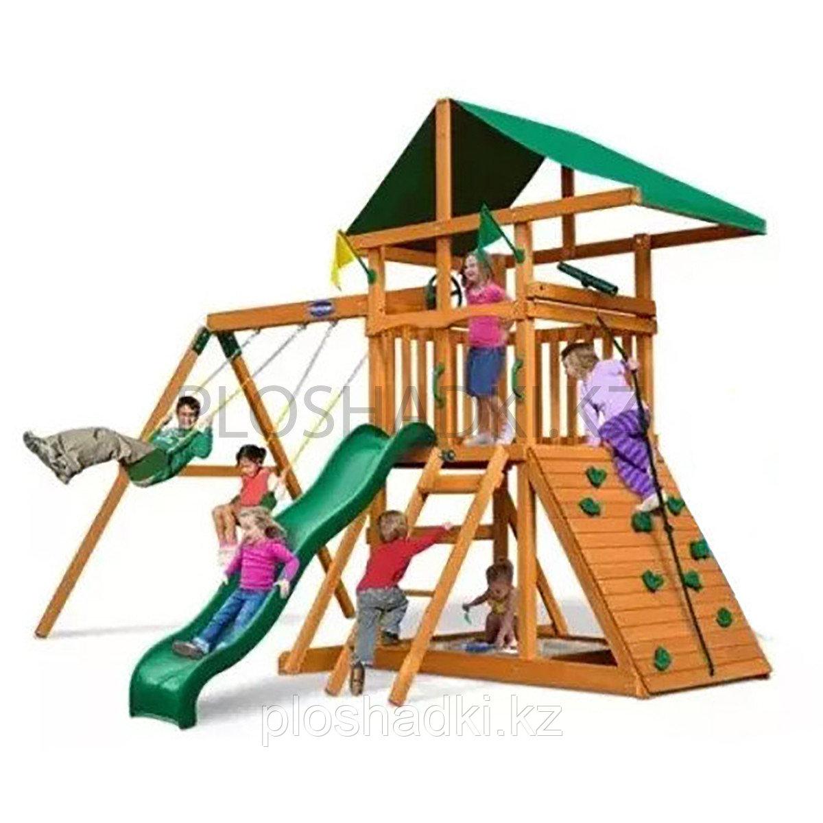 """Деревянный игровой комплекс """"Конго"""", скалодром, качели, горка"""