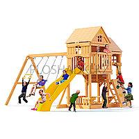 Детская Площадка «Рама», качели, горка, домик с крышей, скалодром, лестница, скамейки