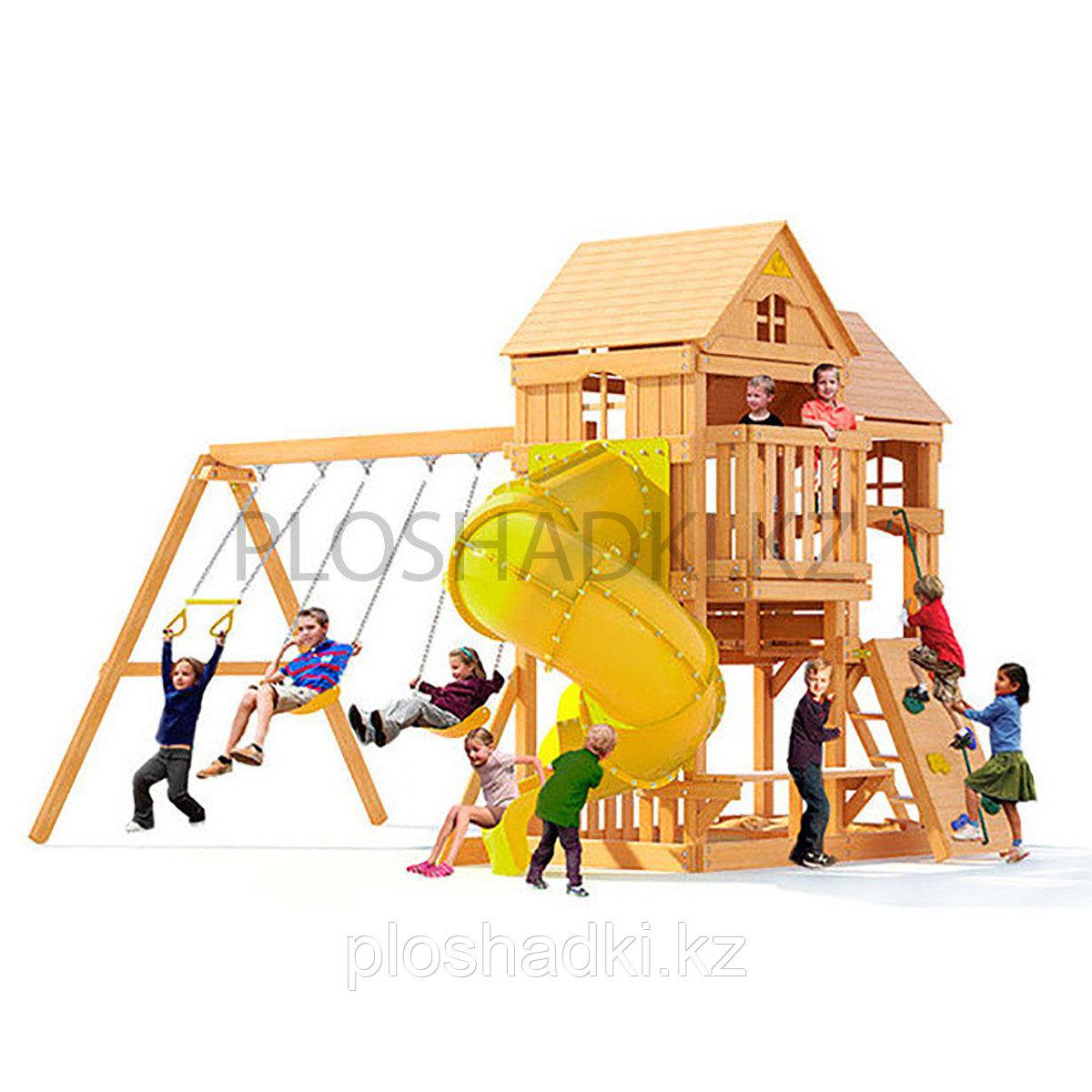 Детская площадка «Рама» с трубой, качелями, скалодромом