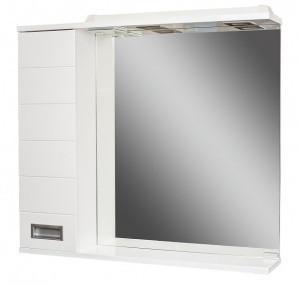 Шкаф-зеркало Cube 80 Эл. левый  (с подсветкой)