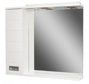 Шкаф-зеркало Cube 80 Эл. левый  (с подсветкой), фото 2