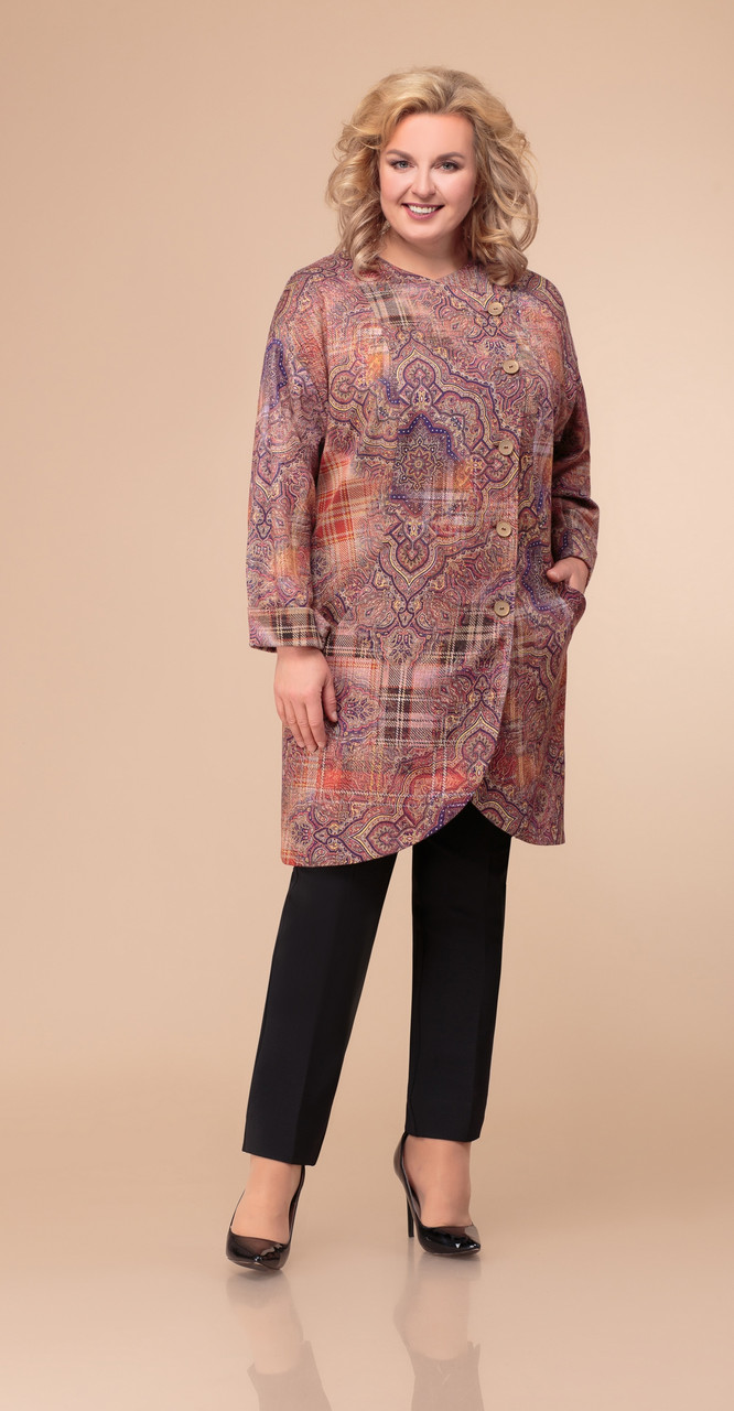 Пальто Svetlana Style-1062, мультиколор, 56