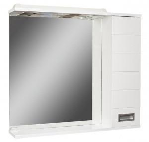 Шкаф-зеркало Cube 80 Эл. правый  (с подсветкой)
