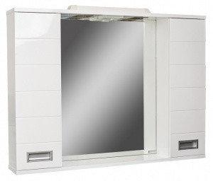 Шкаф-зеркало Cube 100 Эл.   (с подсветкой), фото 2