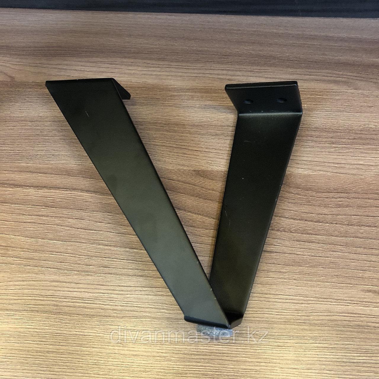Ножка стальная, для диванов и кресел, черная 16 см