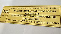 Тактильные таблички, пиктограммы, мнемосхемы с шрифтом брайля