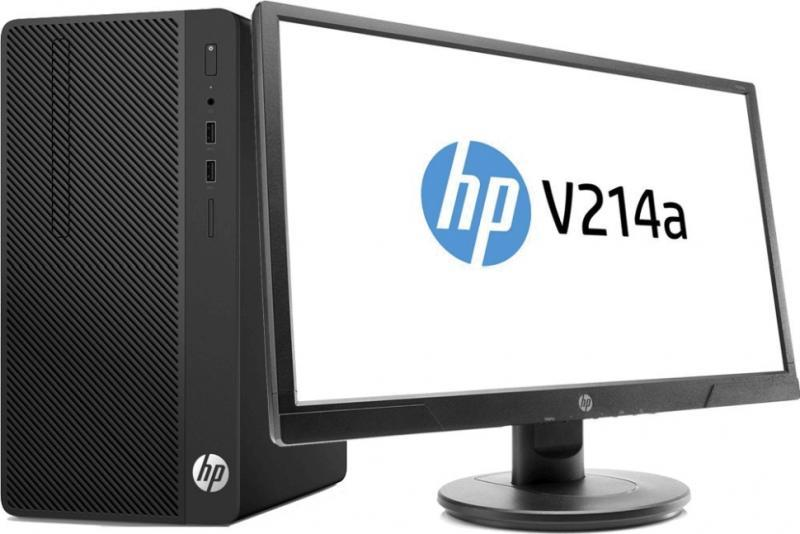 Системный блок-Бандл HP 4VF88EA 290G2MT, i3-8100, 4GB, 1TB HDD, W10P64, DVD-WR, 1yw, USB kbd, Монитор, V214a 2