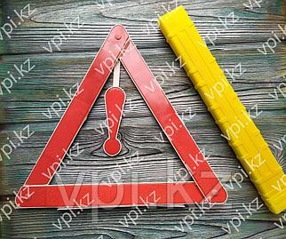 Знак аварийной остановки в пластиковом чехле, 390*390*390мм.